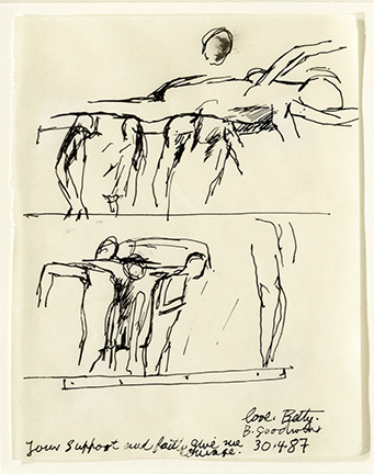Betty Goodwin Sketchbook page